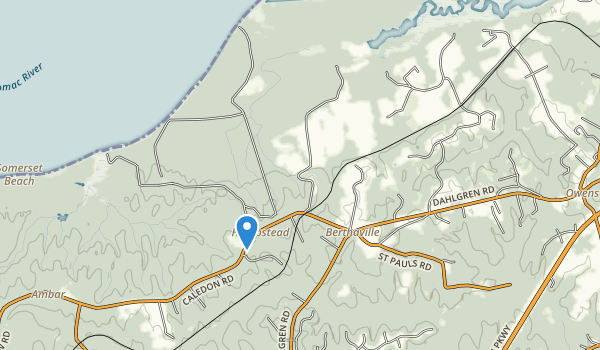 Caledon Natural Area State Park Map