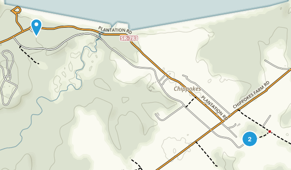 Chippokes Plantation Map
