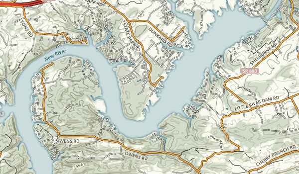 Douthat Lake State Park Map