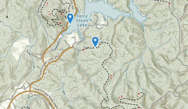 trail locations for Fairy Stone State Park