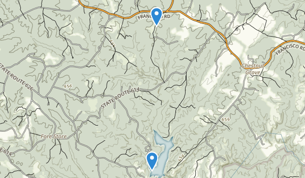 trail locations for Holliday Lake State Park