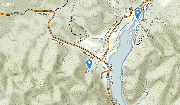 trail locations for Hungry Mother State Park