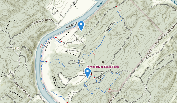 James River State Park Map