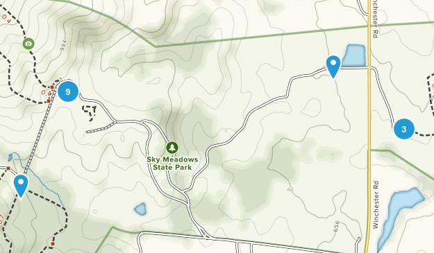 Sky Meadows State Park Map