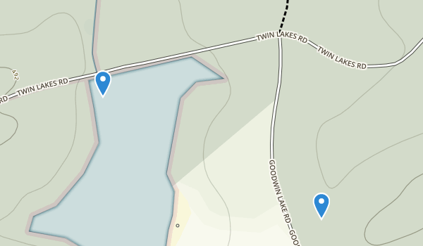 trail locations for Twin Lakes State Park