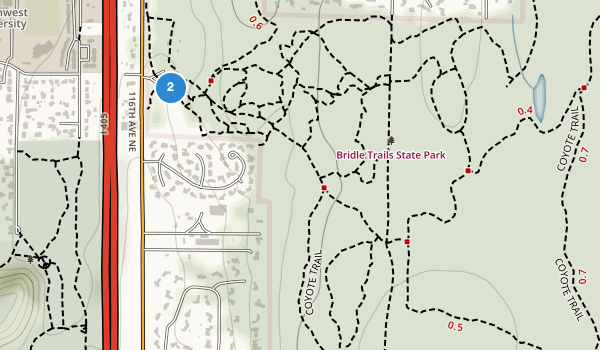 trail locations for Bridle Trails State Park