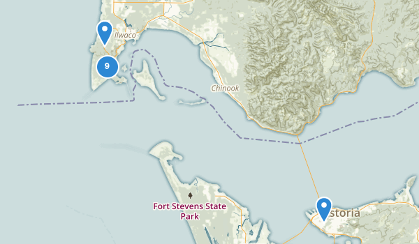 trail locations for Cape Disappointment State Park