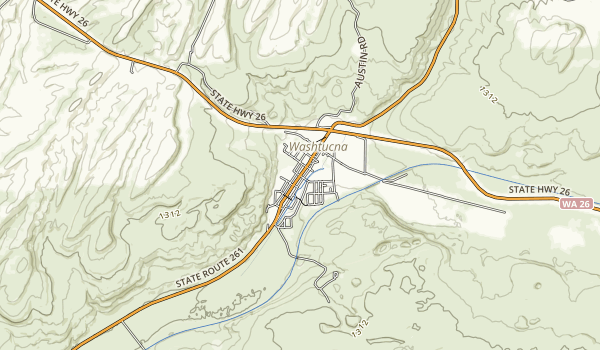 Columbia Plateau Trail State Park Map