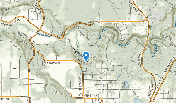 trail locations for Flaming Geyser State Park
