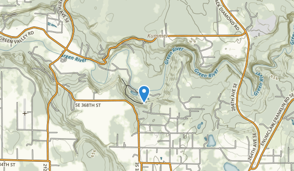 Flaming Geyser State Park Map