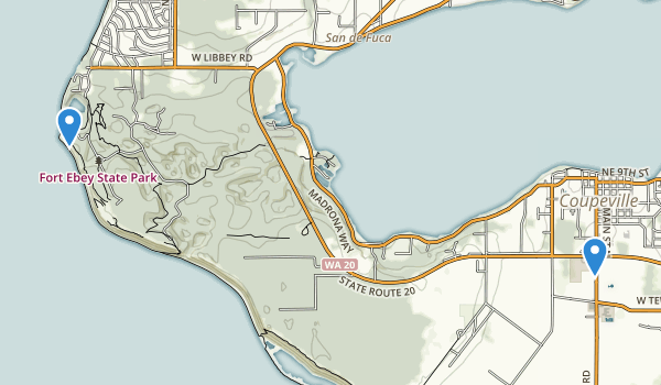 trail locations for Fort Ebey State Park