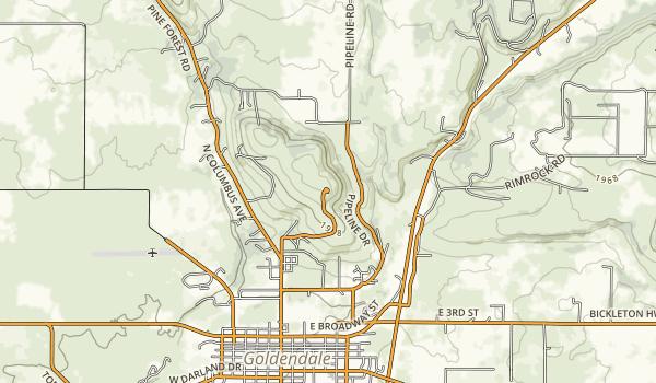 Goldendale Observatory State Park Map