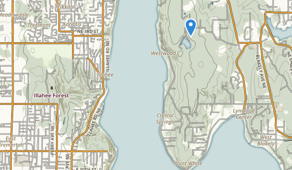 Illahee State Park Map