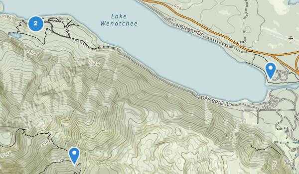 trail locations for Lake Wenatchee State Park