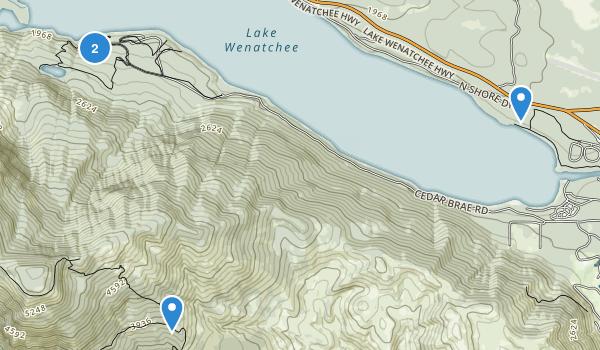 Lake Wenatchee State Park Map