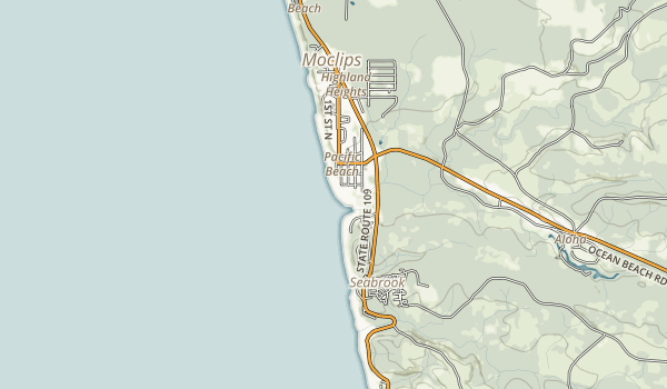 Pacific Beach State Park Map