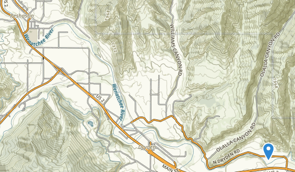 Peshastin Pinnacles State Park Map