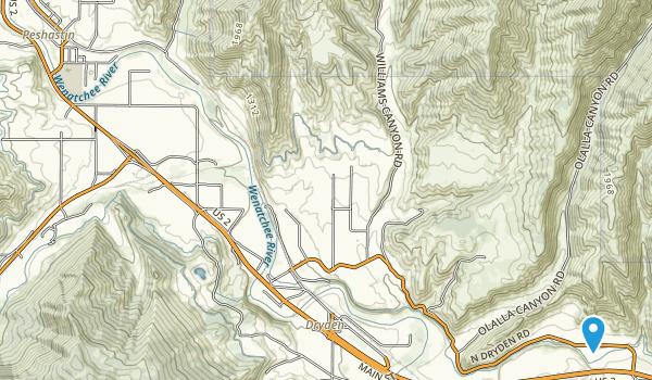Peshastin Pinnacles State Park Map