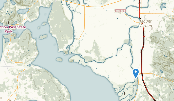 Skagit Island State Park Map