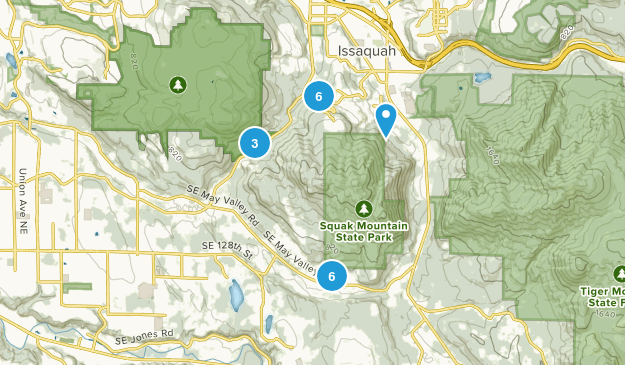 Squak Mountain State Park Map