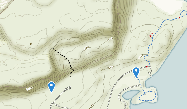 trail locations for Steamboat Rock State Park