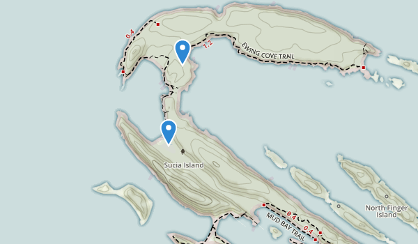 Sucia Island State Park Map