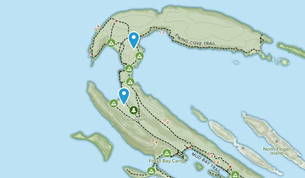 Parque Estatal de la Isla Sucia Map
