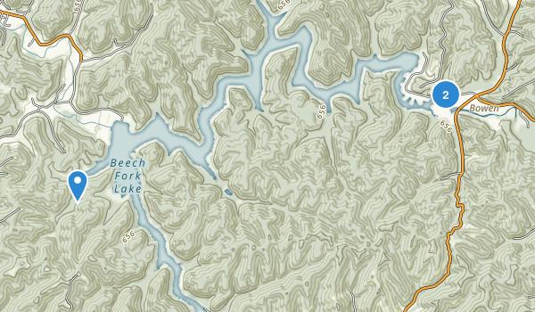 Beech Fork State Park Map