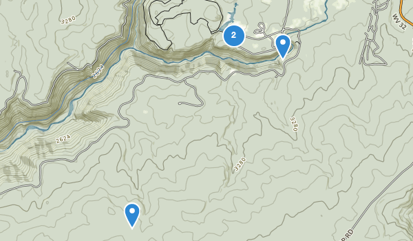 trail locations for Blackwater Falls State Park