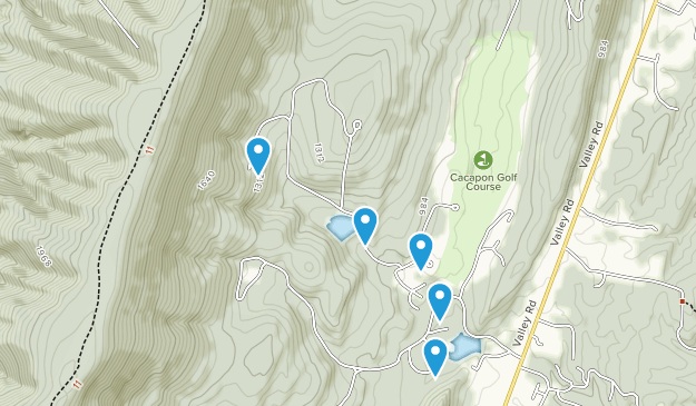 Cacapon Resort State Park Map