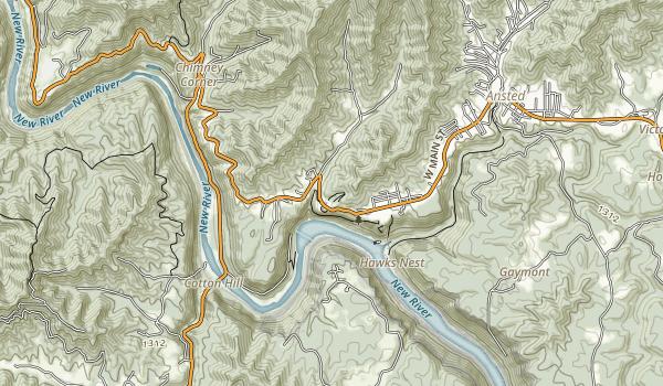 Hawks Nest State Park Map