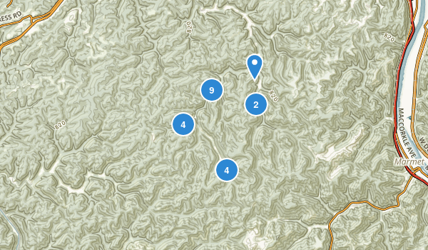 Kanawha State Forest Map