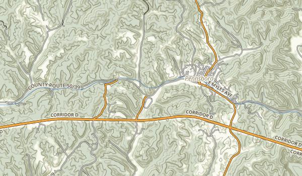 North Bend Rail Trail Map