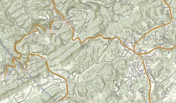 Pinnacle Rock State Park Map