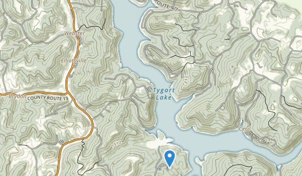 Tygart Lake State Park Map