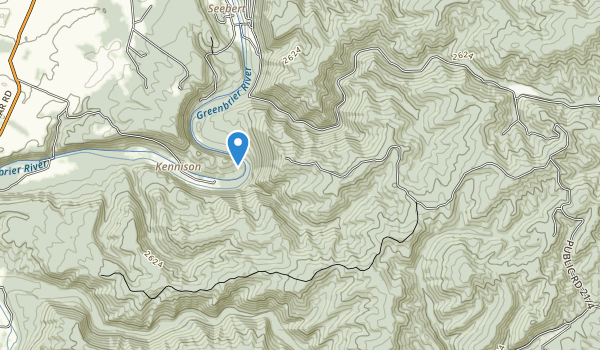 trail locations for Watoga State Park