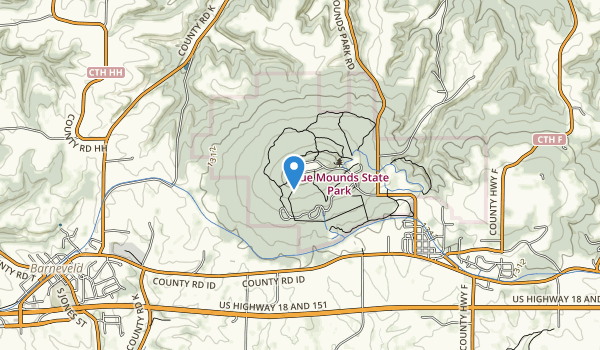 Blue Mound State Park Map
