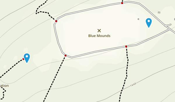 Blue Mound State Park Map