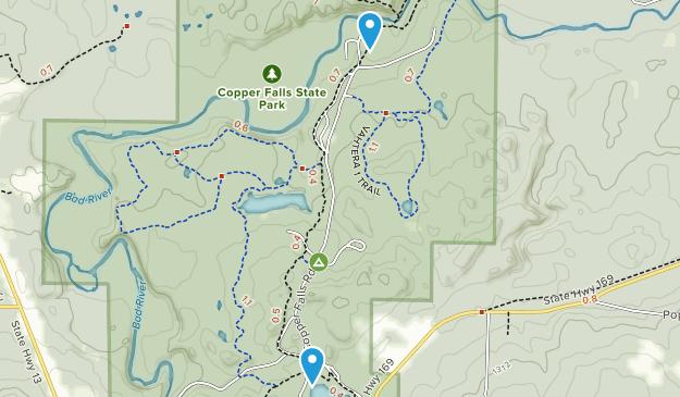 Copper Falls State Park Map