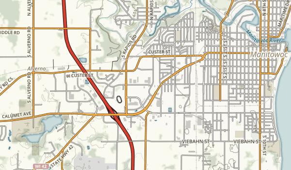 Fischer Creek State Recreation Area Map