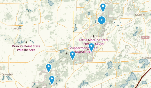 Kettle Moraine State ForestSouthern Unit Map