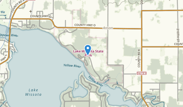 trail locations for Lake Wissota State Park