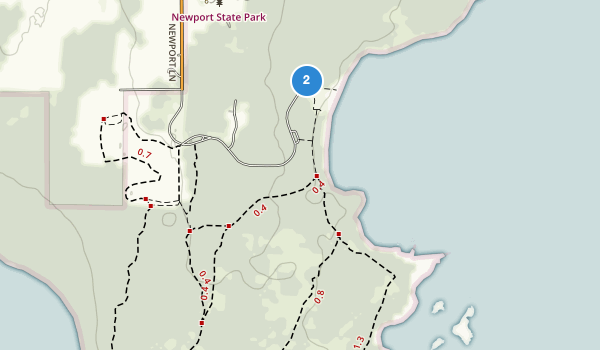 trail locations for Newport State Park