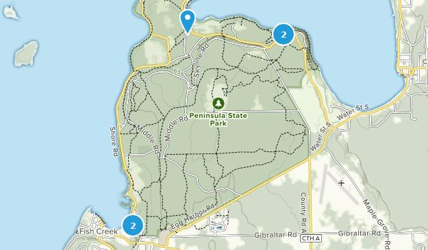 Peninsula State Park Map