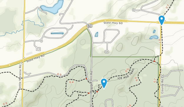 Kettle Moraine State ForestPike Lake Unit Map