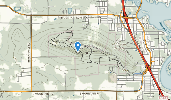 Rib Mountain State Park Map