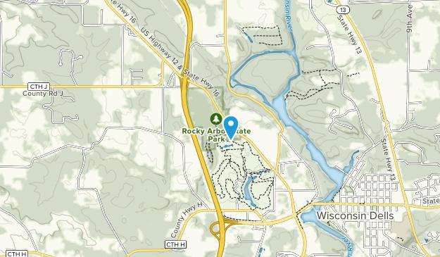 Parque Estatal Rocky Arbor Map