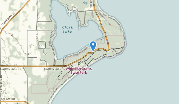Whitefish Dunes State Park Map