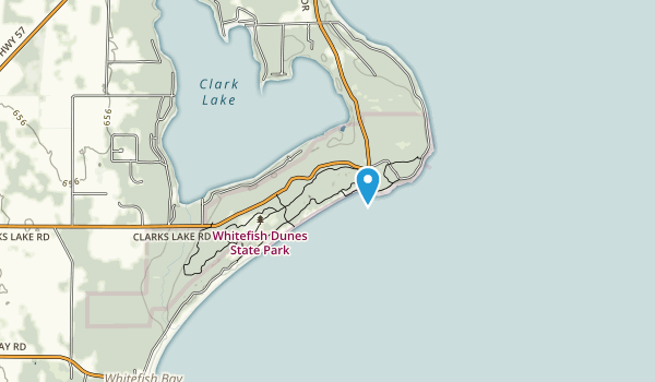 Whitefish Dunes State Park Map