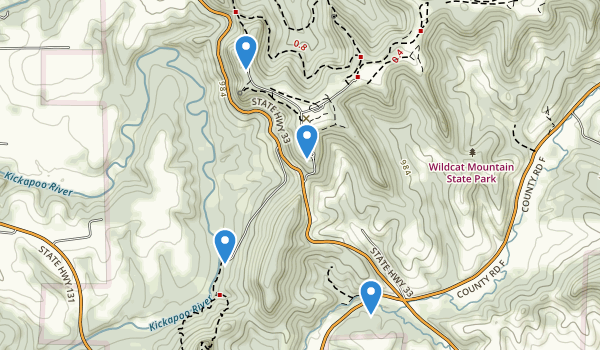Wildcat Mountain State Park Map
